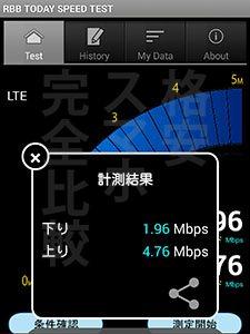 DMM mobile 速度測定:渋谷18時02分【MATE7 & Zenfone2】